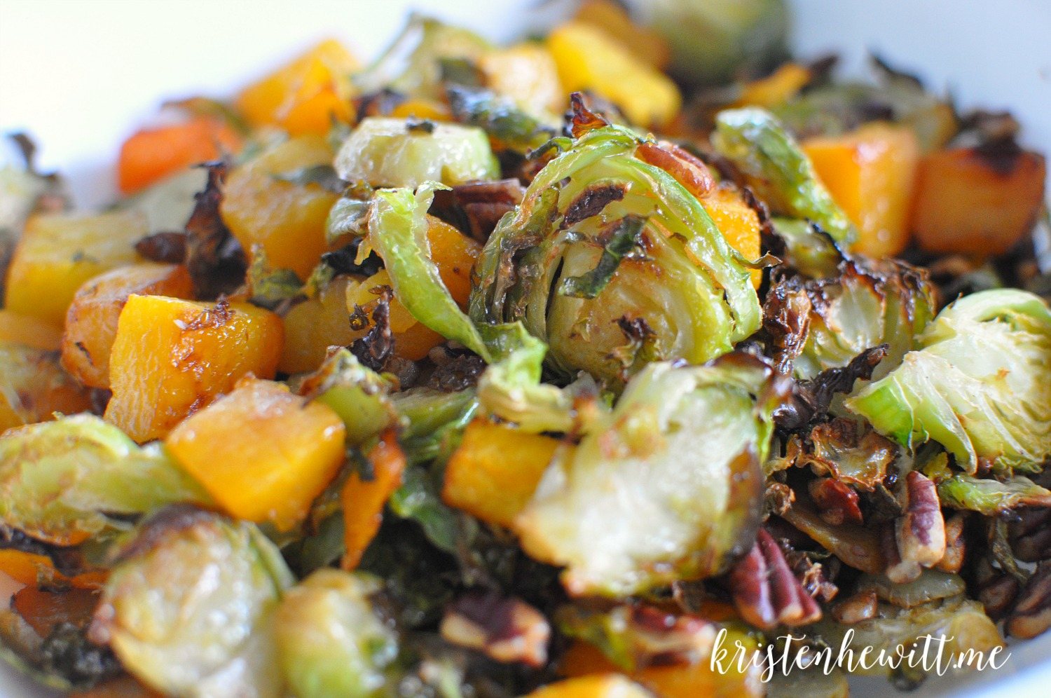 The Easiest and Best Brussels Sprouts & Butternut Squash Side Ever