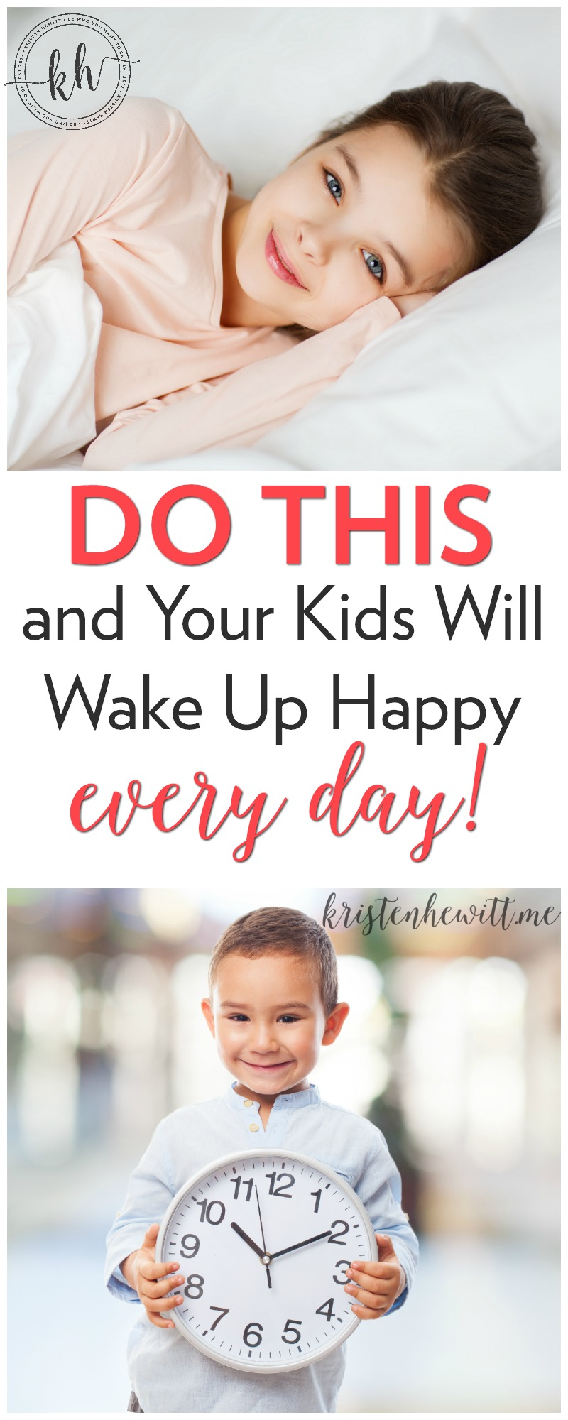 Do your kids wake up grumpy? Or mornings the worst part of your day? Try this and I guarantee your kids will wake up happy every day!