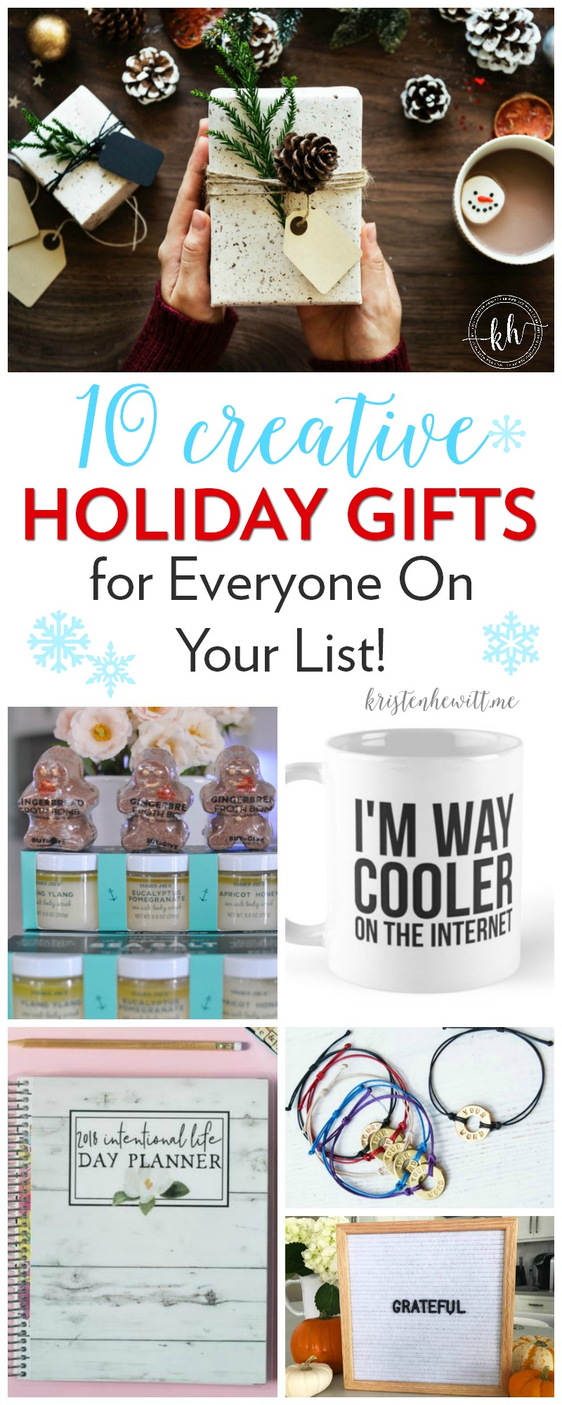Looking for some holiday gifts this season that are creative and thoughtful and won't break the bank? Start here! Happy shopping!
