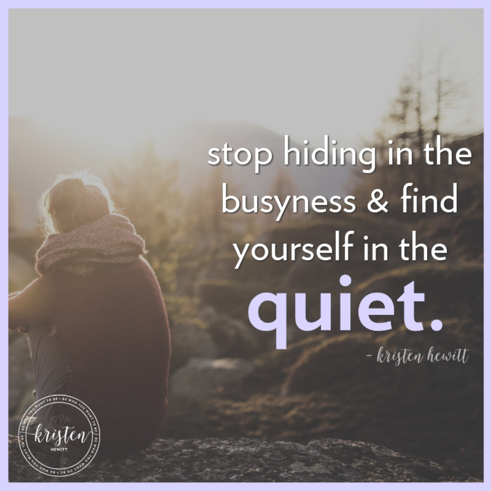 Do you find yourself always lost in busyness, and never finding time for yourself? We all get caught up in life, but here are some ways to stop and listen.