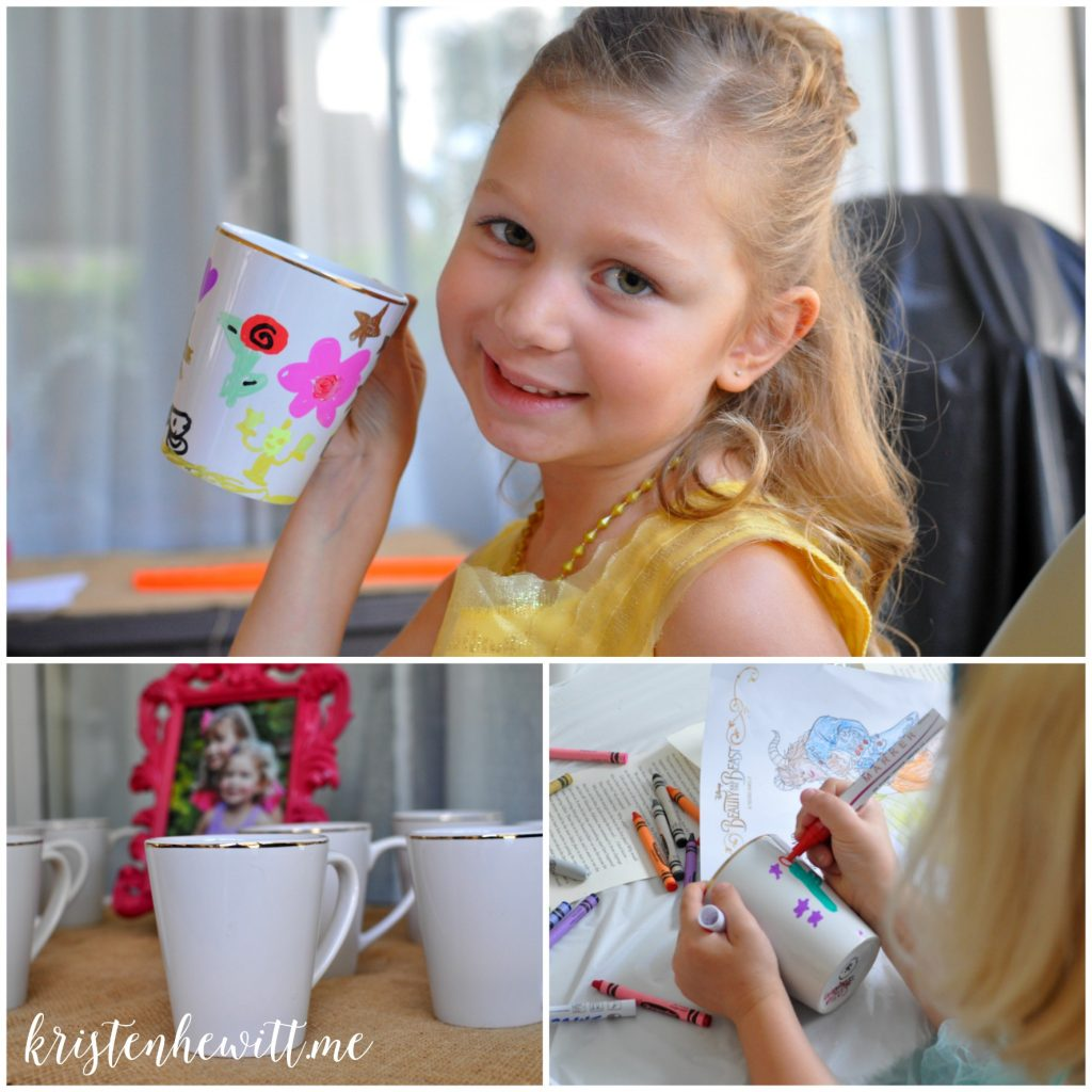 Are you throwing a Beauty and the Beast themed birthday party? Think outside the box and make it a fun tea party! What little Belle & Beast fans wouldn't love this?