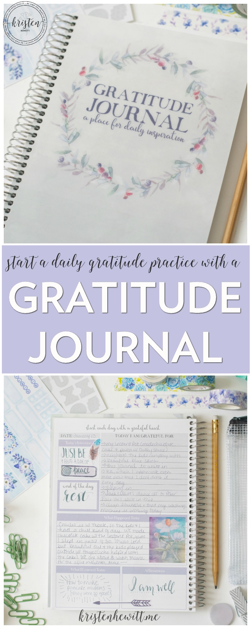 Looking for ways to live a more positive, calm, and happy life? Try using this gratitude journal to help you find the good in each day, and affirm what you really need.