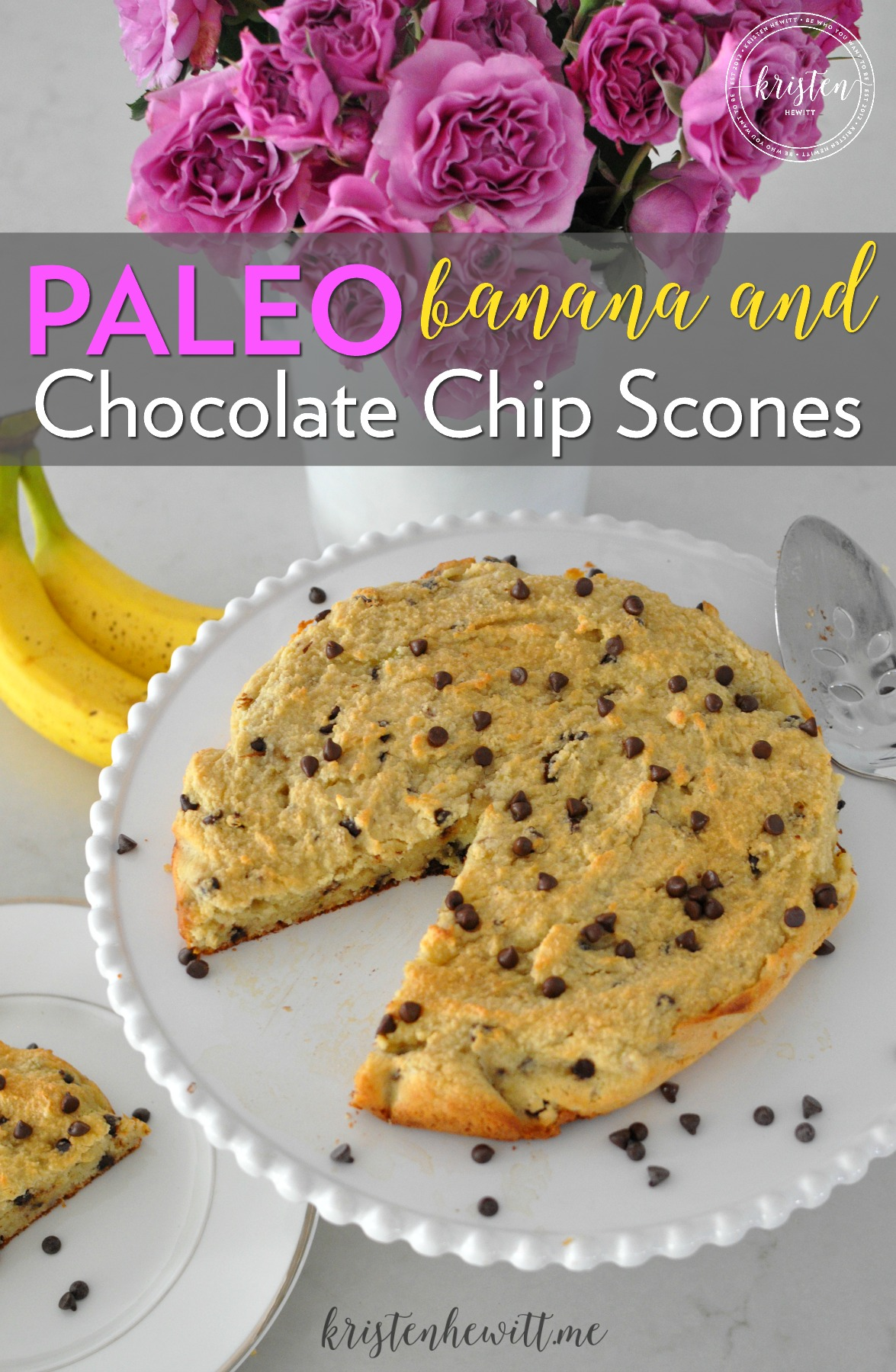 Looking for a new paleo scones recipe? Try these paleo banana chocolate chip scones. They are so easy to make and a delicious treat for breakfast!