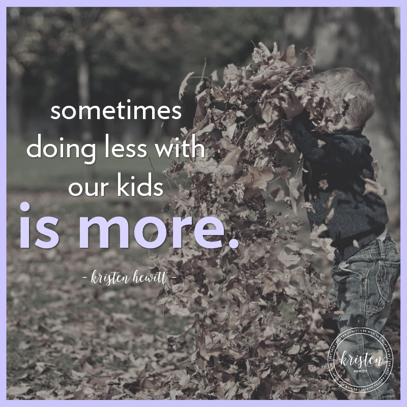 Do you worry your kids are overscheduled? Read why this mom only allows her kids to do one after-school activity. Sometimes doing less with our kids is more!
