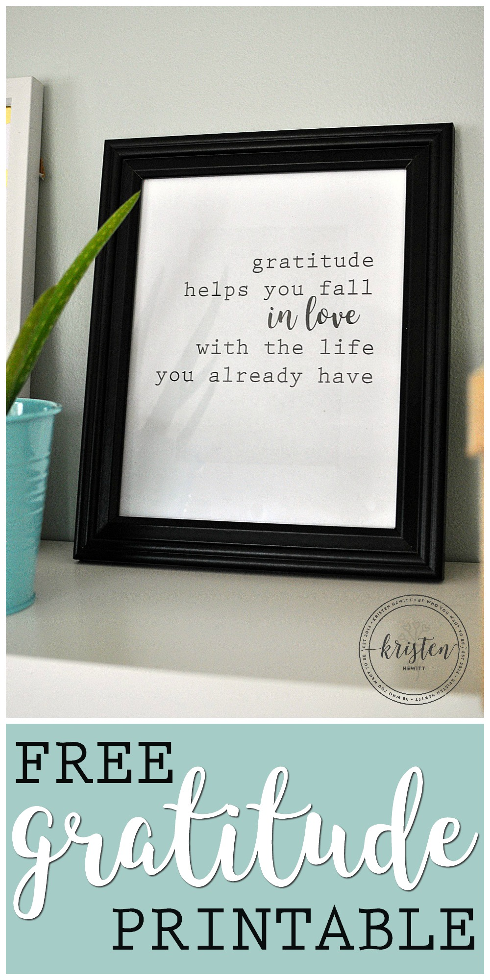 Would you like to win a gratitude journal? Learn how to start a gratitude practice and download this adorable free gratitude quote printable!