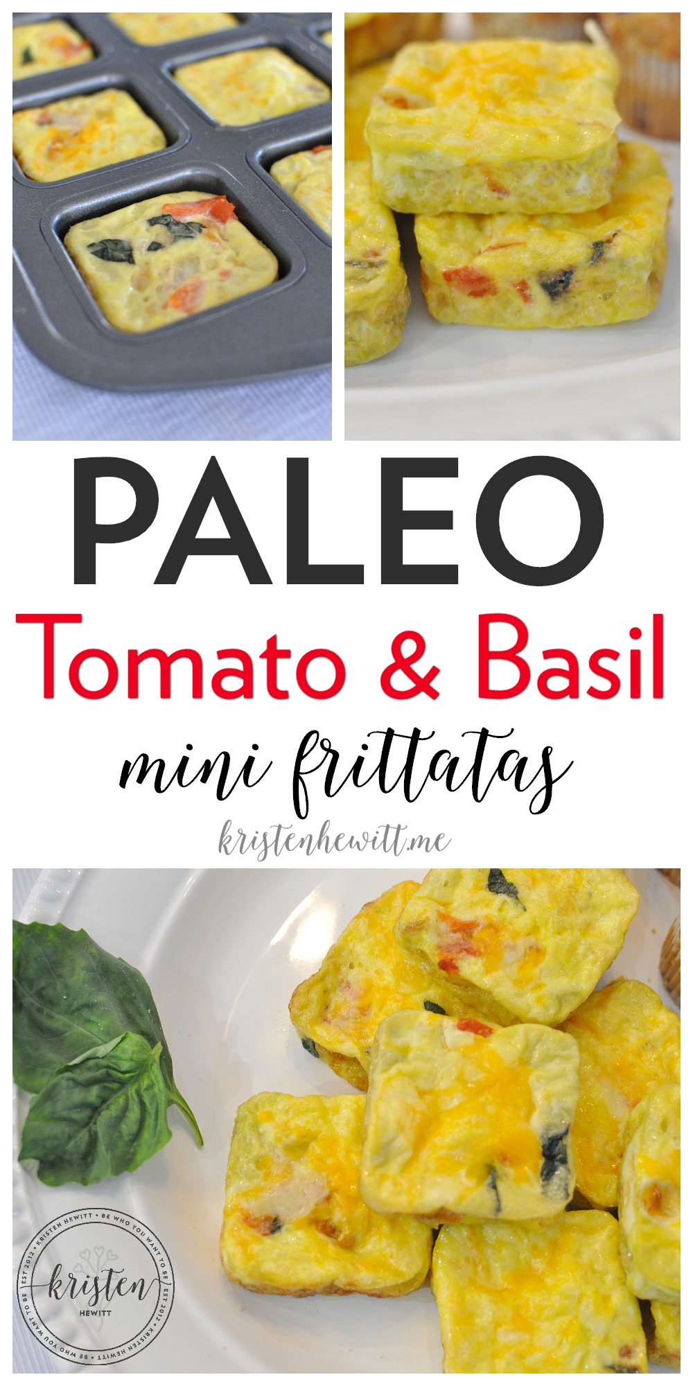Looking for an easy breakfast recipe that you can make ahead?! Try these DELISH Paleo Tomato & Basil Mini Frittatas. Little in size but BIG in flavor!