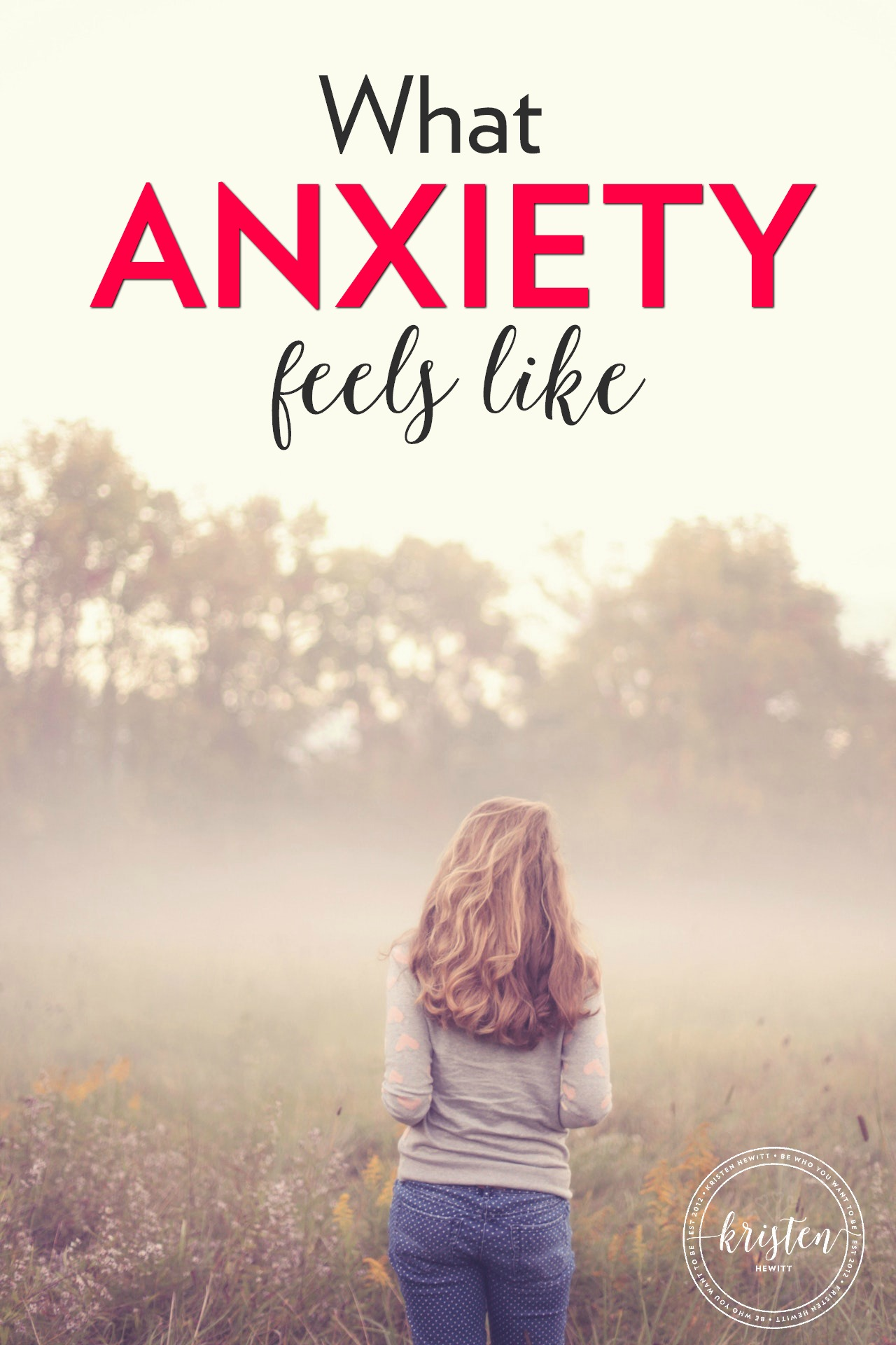 Anxiety comes in waves, it can escape you for awhile then show up when you least expect it. This is what anxiety feels like - you're not alone.