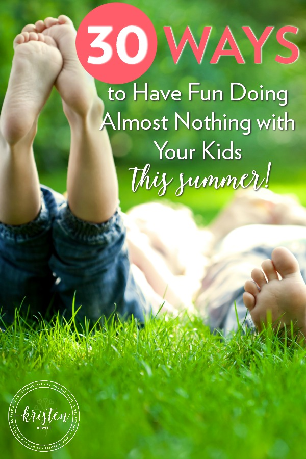 Are you tired of schedules, camps and having to be somewhere every day? If you want to give your kids an old-fashioned summer here are some laid back ideas to help them have fun doing almost nothing!