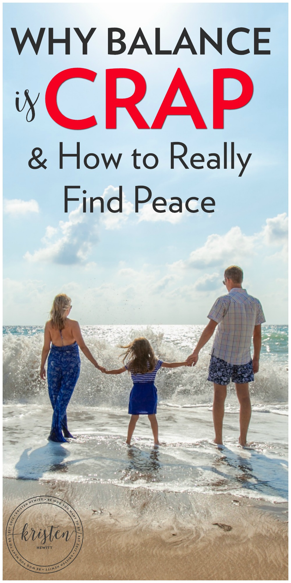 Are you struggling to find the balance between work, family, and all of your other responsibilities? Read why balance is crap and what you can do now to really find peace!