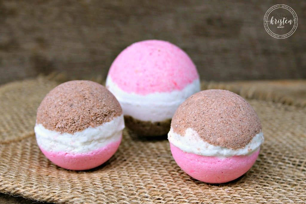 DIY Neapolitan Bath Bombs