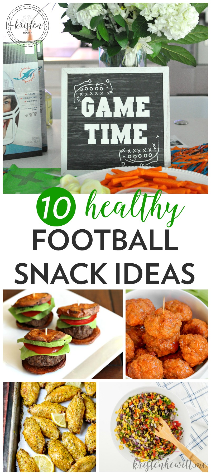 Looking to feed a crowd but still eat clean? Try these 10 healthy football snacks and check out these cute game day party ideas!