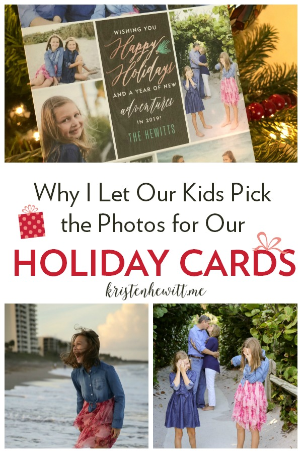 It's so hard to do all the things during the holiday season, especially picking photos for a card. That's when our daughter helped me see that the imperfections were what made the images beautiful!